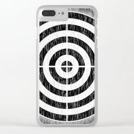Static Bullseye Clear iPhone Case
