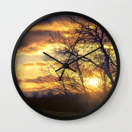 Sunshine Scattered Wall Clock