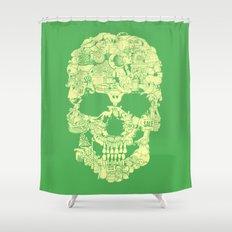Clip Art Skull Shower Curtain
