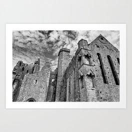 Rock of Cashel Film Noir Style Art Print