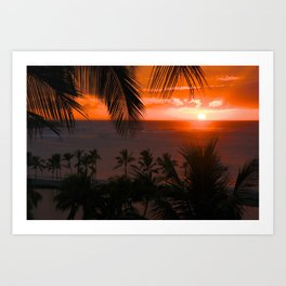 Anaeho'omalu Bay Waikoloa, Hawaii Sunset Art Print