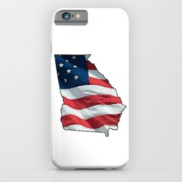 Patriotic Georgia iPhone Case