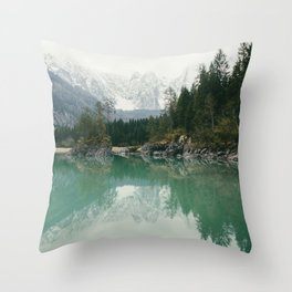 Turquoise lake - Landscape and Nature Photography Throw Pillow