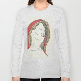 Red Lady Long Sleeve T-shirt