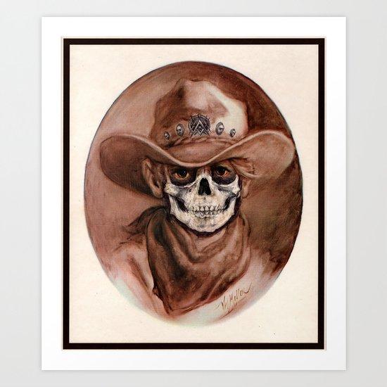 Cowboy Kid - Thrift Store Creepin' Art Print