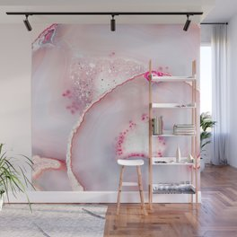 Pink Dreamy Rose Blush Agate Wall Mural