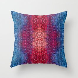 Red breach Throw Pillow