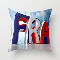 france Throw Pillows featuring France by Carlo Toffolo