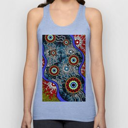 Aboriginal Art – Camping Unisex Tank Top