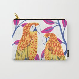 Yellow Parrots Carry-All Pouch
