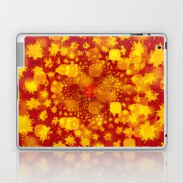 Abstract Yellows and Golds Laptop & iPad Skin