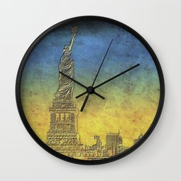 Lady Liberty #4 Wall Clock