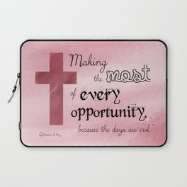 Make the Most of Every Opportunity (Pink) Laptop Sleeve