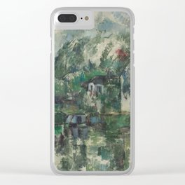 Classic Art At the Water's Edge Paul Cézanne Clear iPhone Case