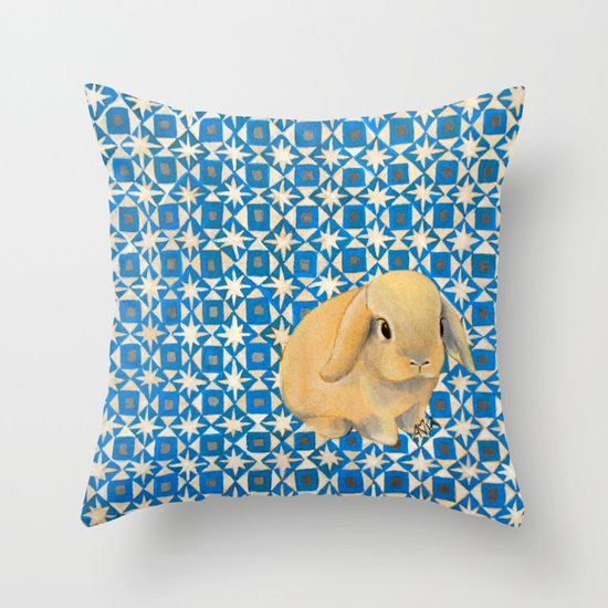 Charlie the Rabbit Throw Pillow