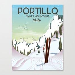 Portillo Ski Chile Ski travel poster. Canvas Print