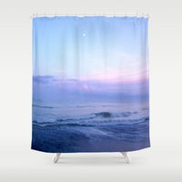 moonrise Shower Curtains featuring Moonrise by Miranda Stein