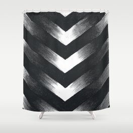 Charcoal Point Shower Curtain