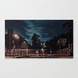 At the street light at night, St. Petersburg (Russia) (2018-7SPB2) Canvas Print