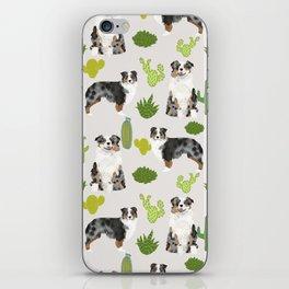 Australian Shepherd owners dog breed cute herding dogs aussie dogs animal pet portrait cactus iPhone Skin
