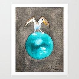 Albatross and Titan Art Print