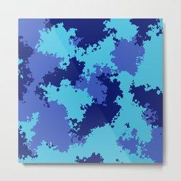 Camouflage ocean  Metal Print