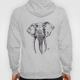 Elephant Drawing Hoody
