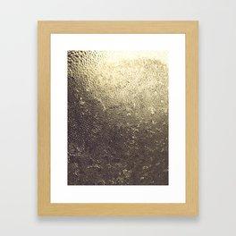 Gold Honey Framed Art Print