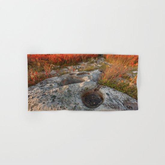 Autumn Huckleberry Fossil Hand & Bath Towel