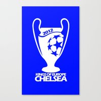 chelsea fc Canvas Prints featuring Champions League Chelsea by Sport_Designs