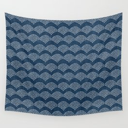 Wabi Sabi Arches in Blue Wall Tapestry