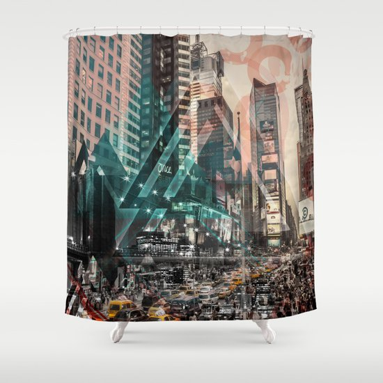 New York City | Geometric Mix No. 4 Shower Curtain