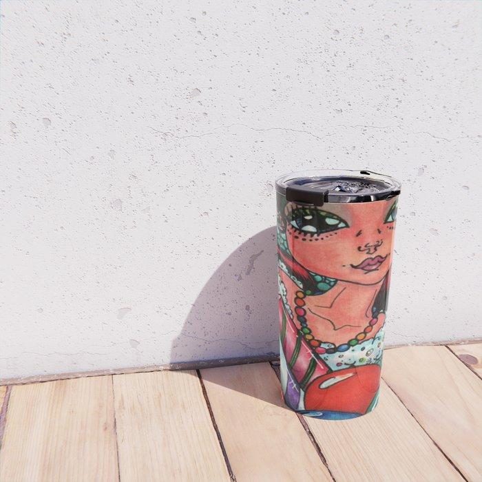 Sweet Sugar Shock Girl Travel Mug