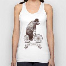 Bears on Bicycles Unisex Tank Top