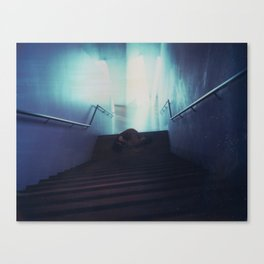 Federation Stairs Polaroid Canvas Print