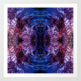 Stained Glass (Blue & Purple) Art Print