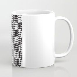 Hob Nob Black White Quarters Coffee Mug