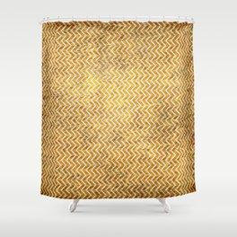Textured ice coffee chevrons Shower Curtain