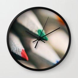Colourful Pencils Wall Clock
