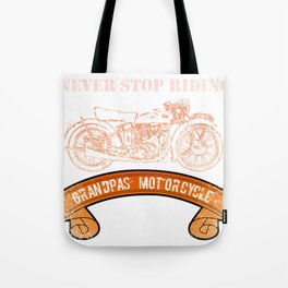 Motorcycle Grandpas  Vintage Design Motors Tote Bag
