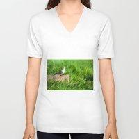 pigeon V-neck T-shirts featuring pigeon by Marcel Derweduwen
