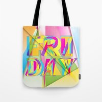friday Tote Bags featuring Friday by Cohen McDonald