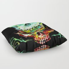 Another Year, Another Skull Floor Pillow