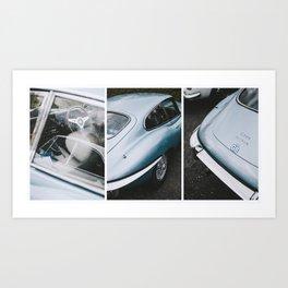 E Type Jaguar Art Print