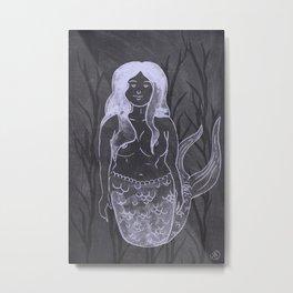 Chalky Mermaid Metal Print