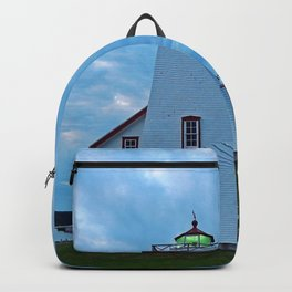 Wood Islands Lighthouse and green light Backpack
