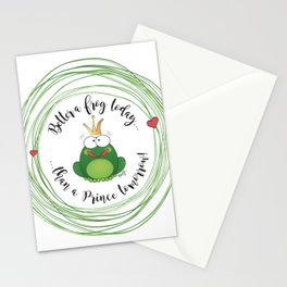 Funny Frog || Better a frog today... || Hen Party || Engagement || Funny gift Stationery Cards