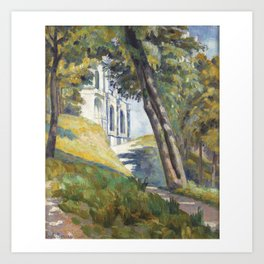 Émile Bernard, 1868-1941 LEADING THE WAY TO THE CHURCH OF SAINT-PIERRE TO THUNDER Art Print