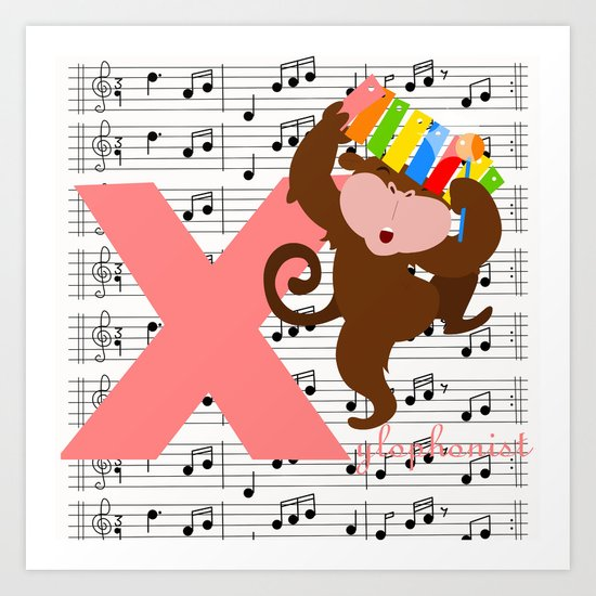 x for xylophonist Art Print