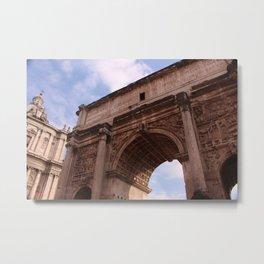 Roman Forum Arch Metal Print